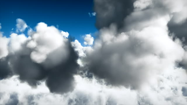 High speed flying through clouds - loopable video