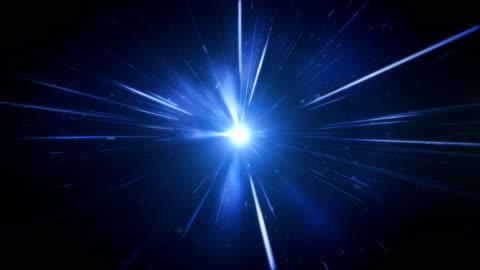 vídeos y material grabado en eventos de stock de alta velocidad / velocidad de la luz / espacio de animación (azul) - lazo - luz