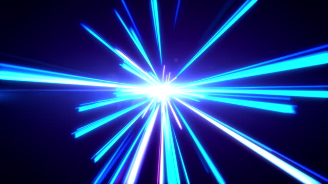 vidéos et rushes de haute vitesse s'allume sentiers motion tunnel - ciel etoile
