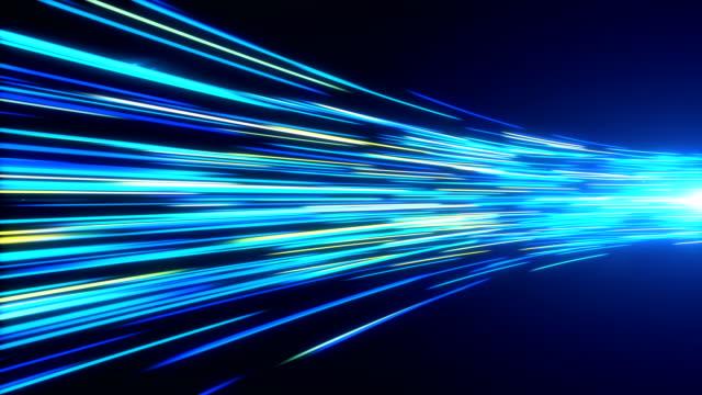 vídeos de stock, filmes e b-roll de luzes de alta velocidade trilhas de movimento de túnel - fibra óptica