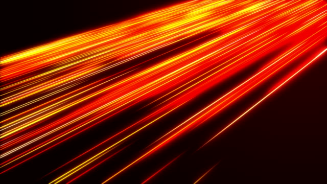 High Speed lights Tunnel motion trails