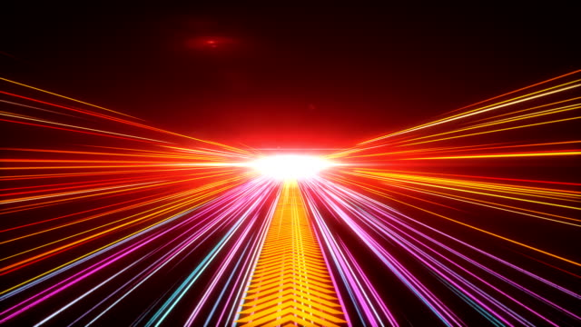 High Speed lights Tunnel motion trails High Speed lights Tunnel motion trails electric light stock videos & royalty-free footage