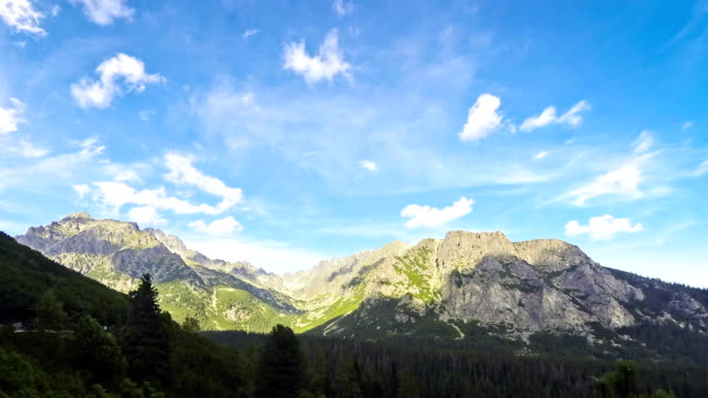 High Tatras mountains, Slovakia. View to peaks Tupa (2284m) and Ostrva (1984m) video