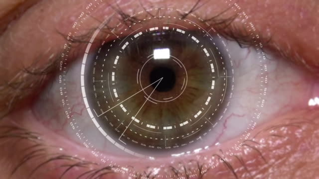 High Tech Cyber Eye Close-Up Of High Tech Cyber Eye eyesight stock videos & royalty-free footage