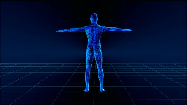 High Tech Profile Man High tech man profile orbit, seamless 1080 HD loop. the human body stock videos & royalty-free footage