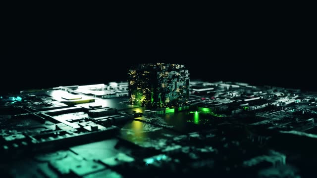 3D High technology background (loopable)