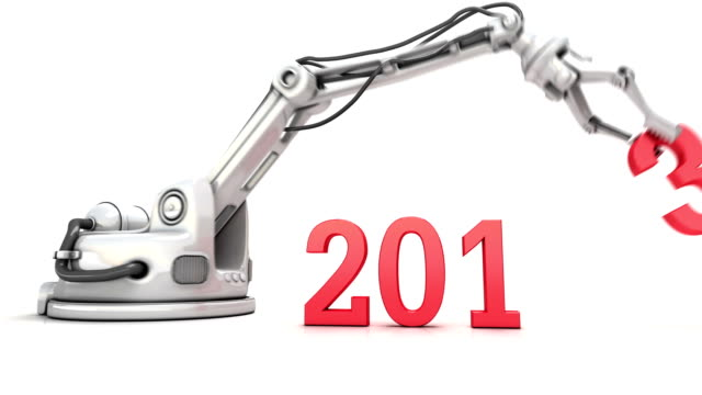 High Technology New Year animation. video