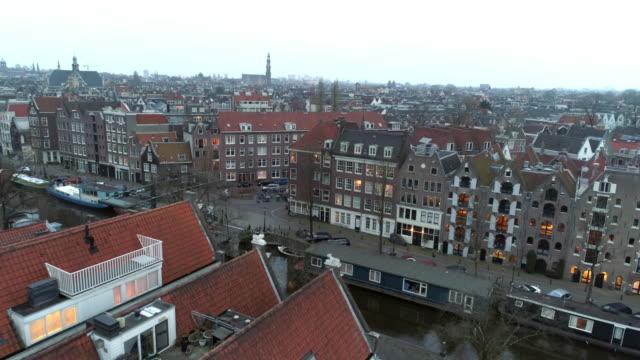 högt ovanifrån europeisk stad - drone amsterdam bildbanksvideor och videomaterial från bakom kulisserna