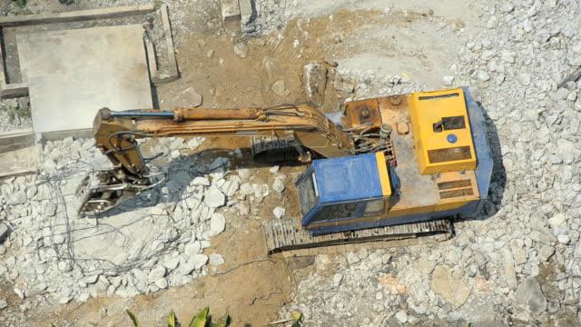 high view : Excavator work video