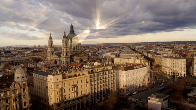 high view of amazing city-budapest - gothic architecture stock videos & royalty-free footage