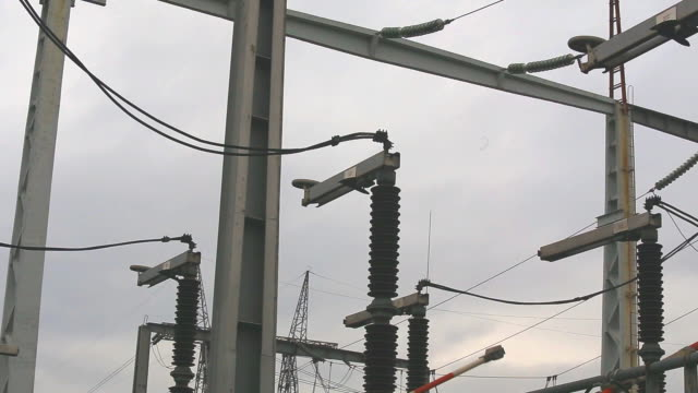 High voltage disconnector in electrical substation