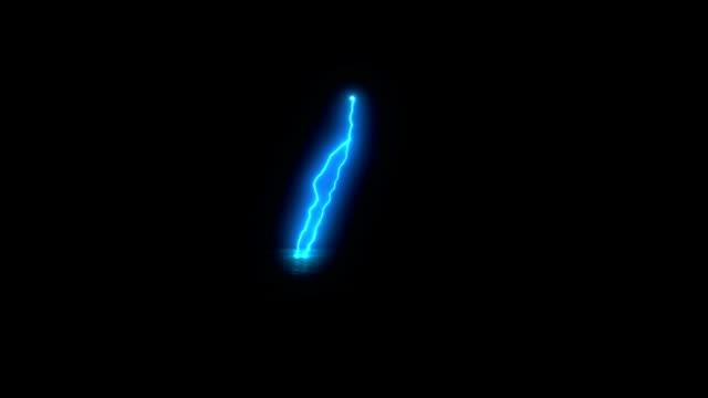 High voltage electrical discharge generated. Computer graphics on black background video