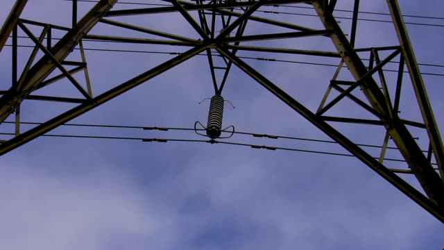 High voltage electricity detail video