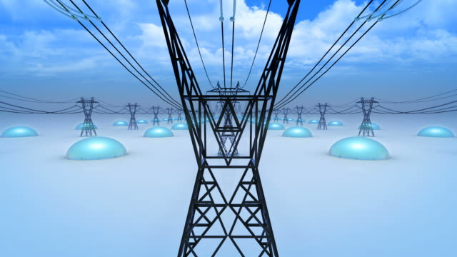High Voltage Power Line (Loopable) video