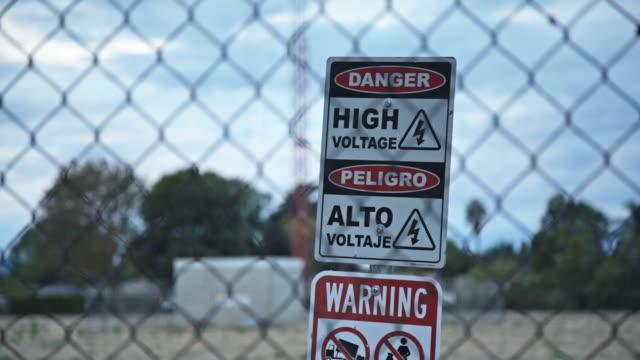 High Voltage Sign video