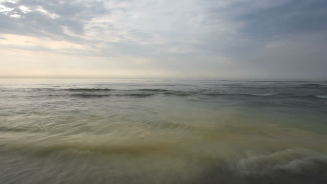 High water at the sea - time lapse video