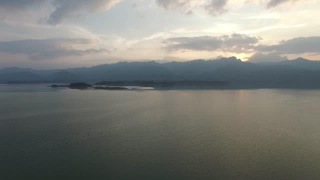 high altitude aerial qingshitan lake - provinz guangxi stock-videos und b-roll-filmmaterial