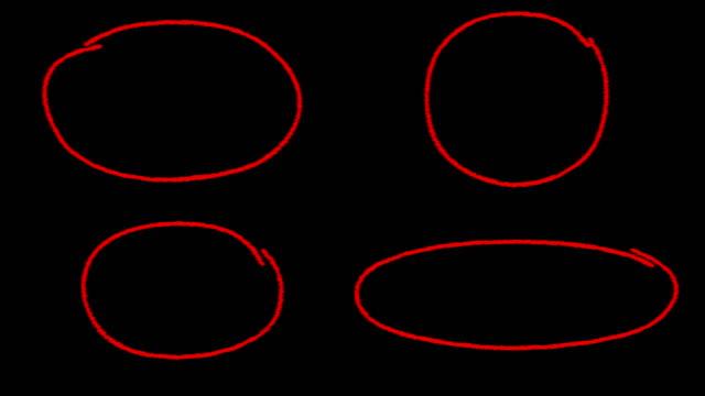 kreis markieren - kreide weiss stock-videos und b-roll-filmmaterial