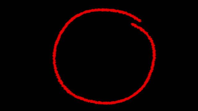 podświetl okrąg - czerwony filmów i materiałów b-roll