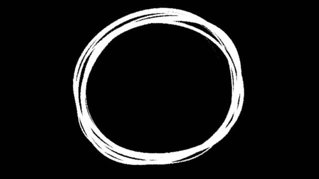 Highlight round marking text ink brush circle stock video