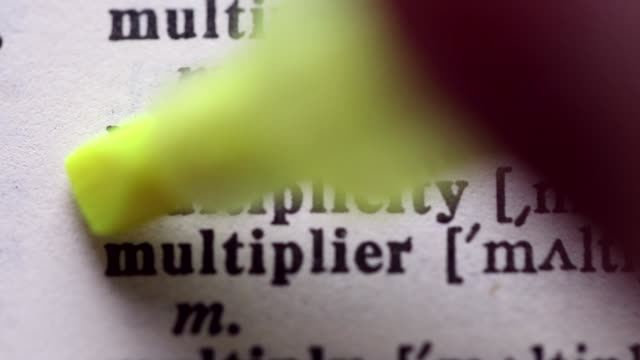 Highlighting the word MULTIPLICITY definition. Signaling the meaning of MULTIPLICITY video