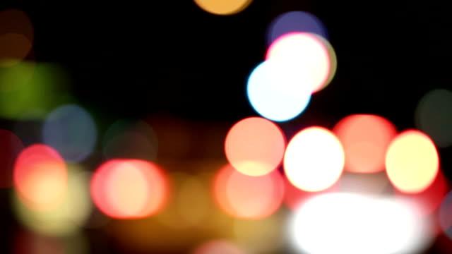 Highly defocused street lights video