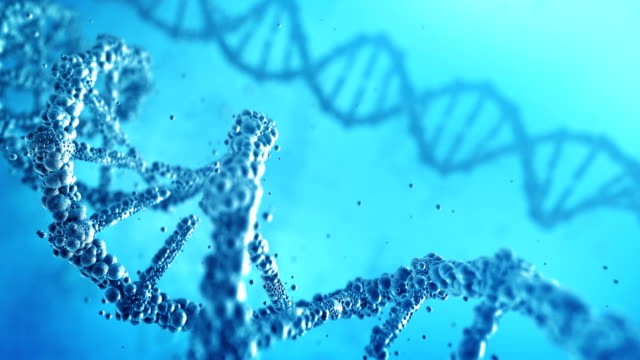 Highly Detailed DNA (Blue) - Loop video
