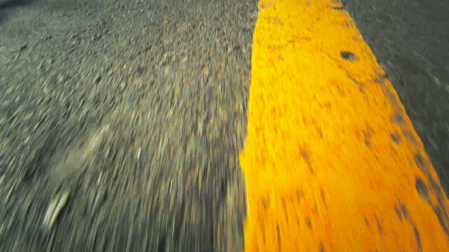 High-speed POV of a road