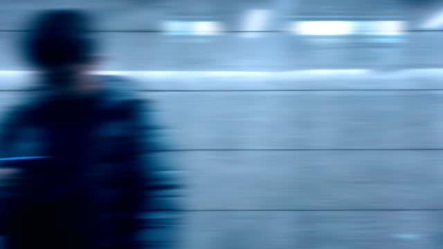 Höghastighetståg som reser video