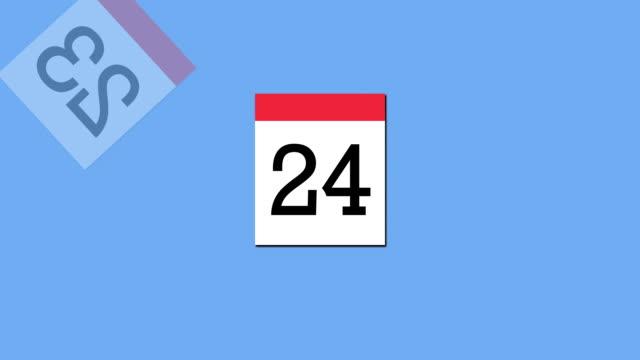 szybki kalendarz zawracania - data filmów i materiałów b-roll