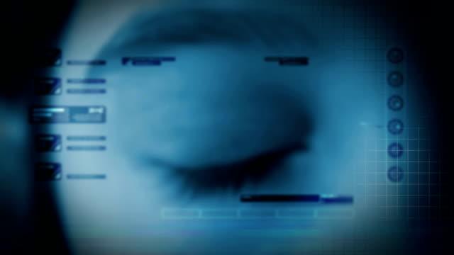High-tech eye animation video