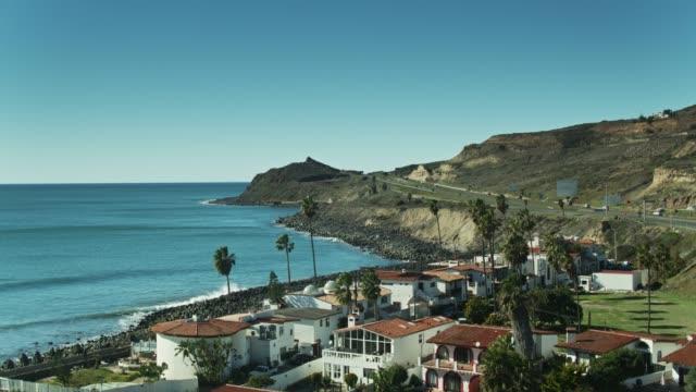 Highway 1 Leaving Ensenada - Aerial video
