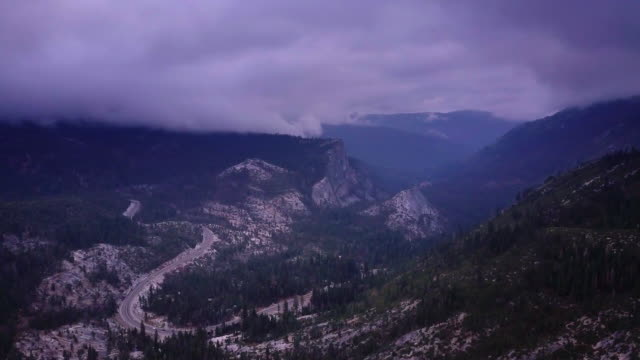 Highway 50 Descending California Sierra Nevada - Aerial Shot video