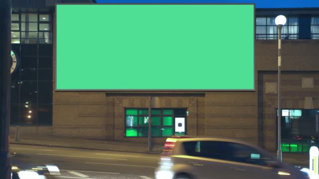Highway advertising building night video