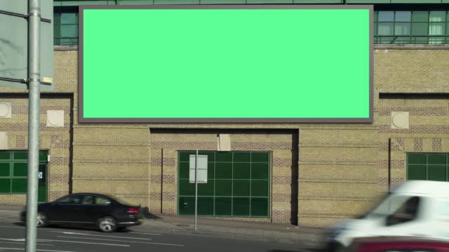 Highway advertising daylight video