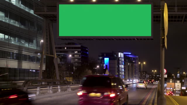 Highway advertising video