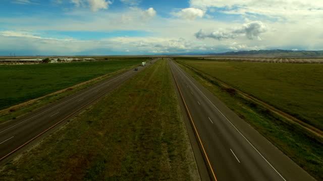 Highway Aerial Rural California video
