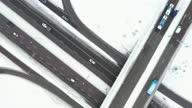 istock Highway and overpass in winter 1299491589
