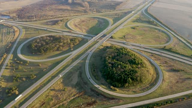 Highway Cloverleaf Interchange video