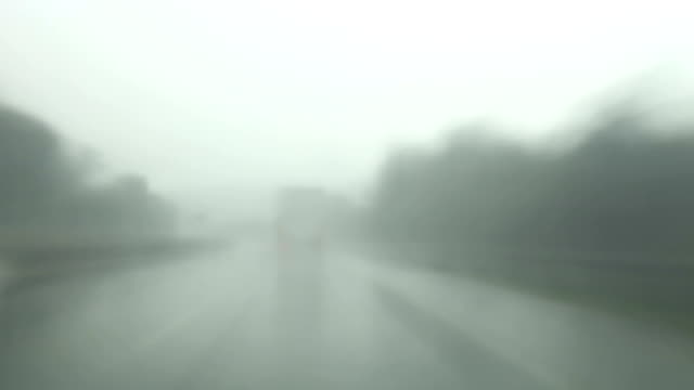Highway Driving in rain, Time Lapse video