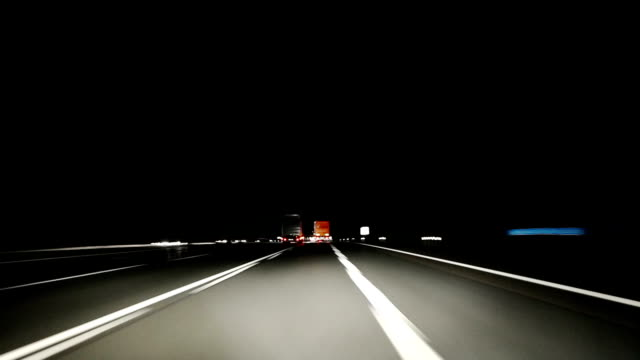 Highway high-speed drive at Night video