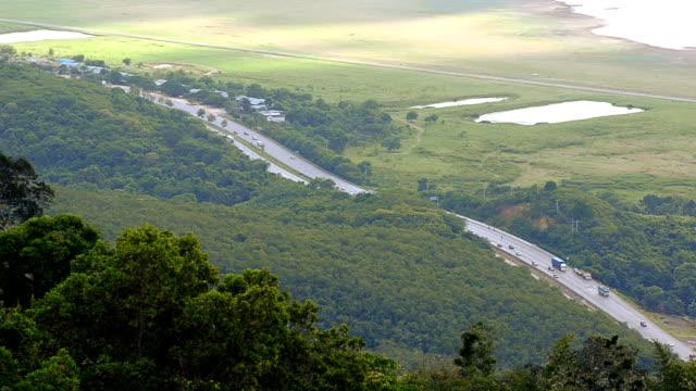 highway in morning - single pampas grass bildbanksvideor och videomaterial från bakom kulisserna