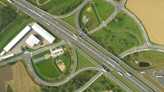 AERIAL Highway Intersections video
