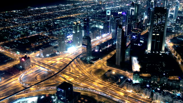 Highway traffic in Dubai video