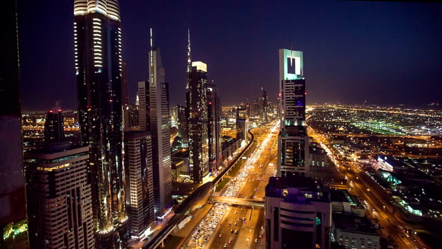 HD: Highway traffic in Dubai video