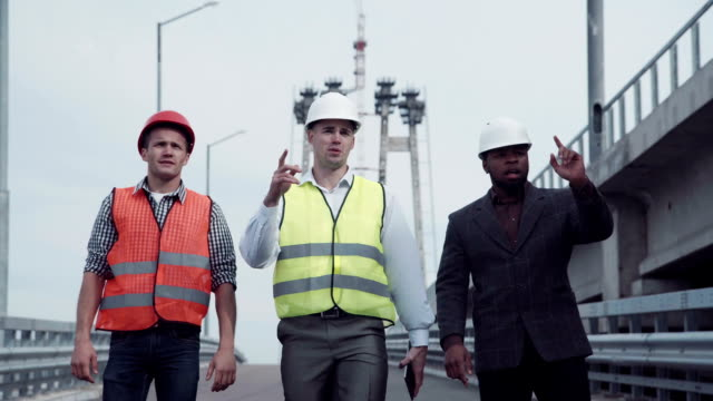 Highway transportation inspector with engineers video