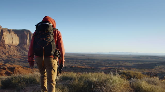 Hiker in Monument Valley video