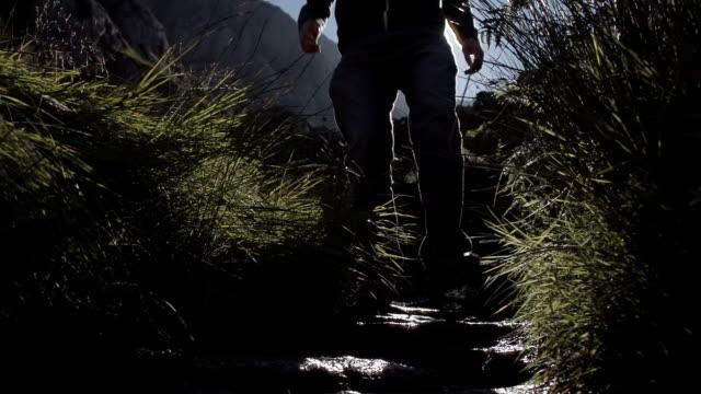 Hiker Walking In Snowdonia Wales video