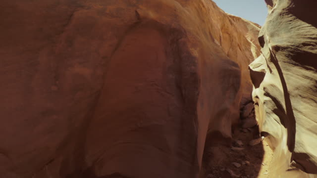 POV hiking in a slot canyon: Grand Staircase Escalante National Monument video