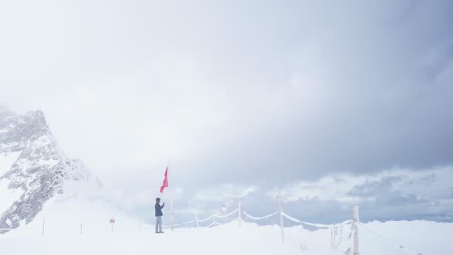 Hiking in Aletsch Glacier in the Switzerland video